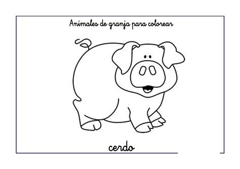 imagenes animales de la granja para colorear dibujos para colorear animales de granja