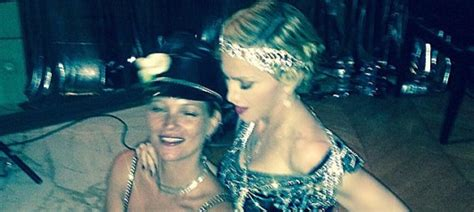 burberry madonna 1865 nd kate moss with madonna at 1920s birthday bash