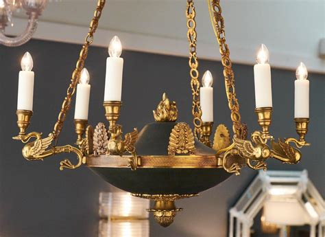 kronleuchter empire stil empire style bronze chandelier at 1stdibs