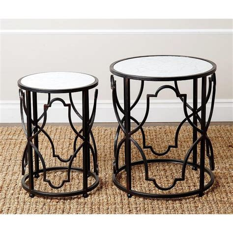 black nesting end tables abbyson living harmon antiqued black nesting end tables