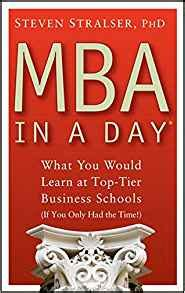 One Day Mba Book by Mba In A Day What You Would Learn At Top Tier Business