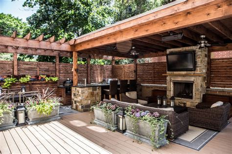 outdoor kitchen roof ideas outdoor living garage roof deck at its best this space