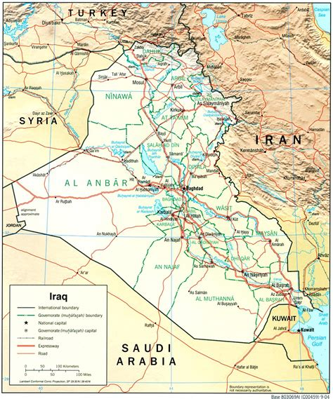 map of iraq cities image gallery iraq map with cities