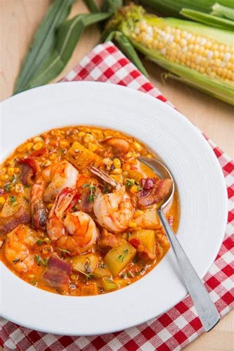 Shrimp And Corn Chowder by Shrimp And Roasted Corn Chowder Recipe Just A Pinch Recipes
