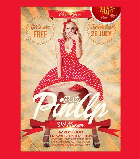 25 free retro party flyer psd templates designyep