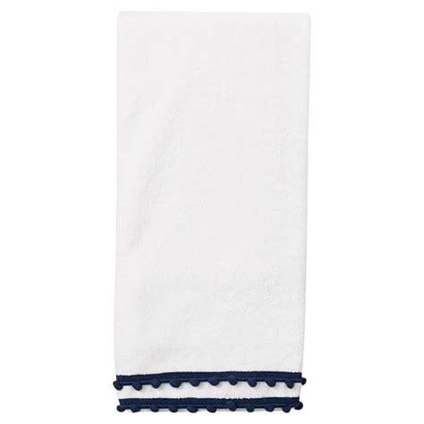 Pompom Trim Towel pom pom bath towels pbteen