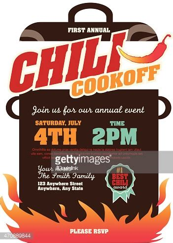 chili cook template free crock pot vector and graphics getty images