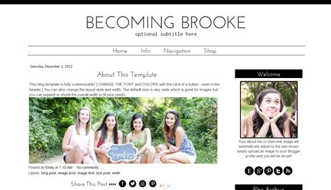 simple black white blogger template modern blog design