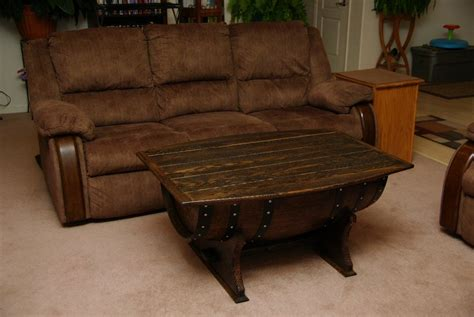 Wine Barrel Coffee Table Plans Wine Barrel Coffee Table By Dc135custom Lumberjocks Woodworking Community