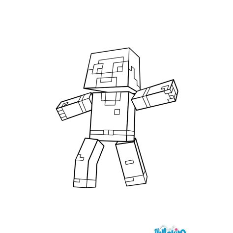 minecraft guy coloring page man coloring pages hellokids com