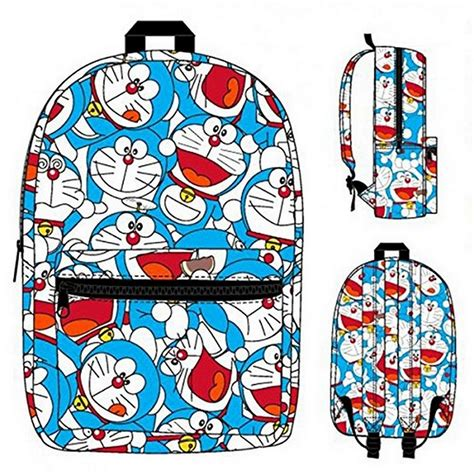 Doraemon With Bag backpack doreamon collage sublimated new school bag ebay