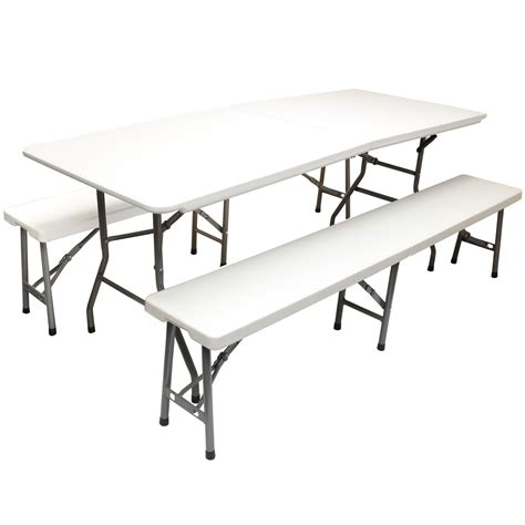 folding table and bench folding trestle table 2 benches docklands office furniture
