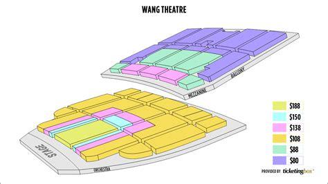 wang seating chart wang theatre seating chart new seats at the boch center