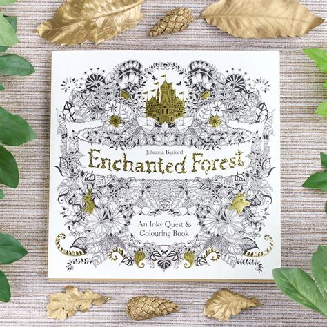 enchanted forest an inky quest colouring book buy from prezzybox com