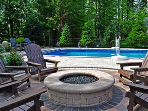 Backyard Creations Circular Fireplace Paver Pit Designs Moscarino Outdoor Creations