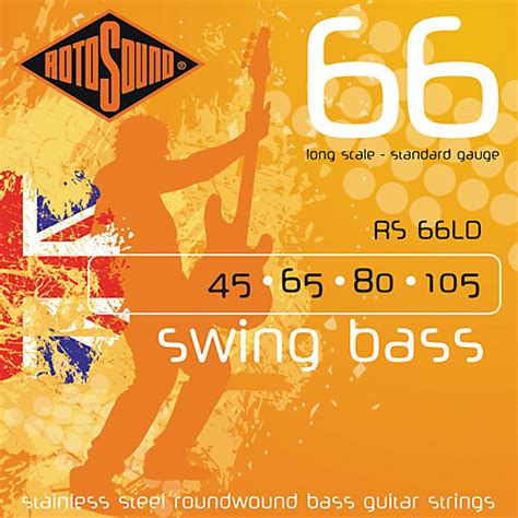 rotosound 66 swing bass rotosound rs66ld long scale swing 66 bass strings