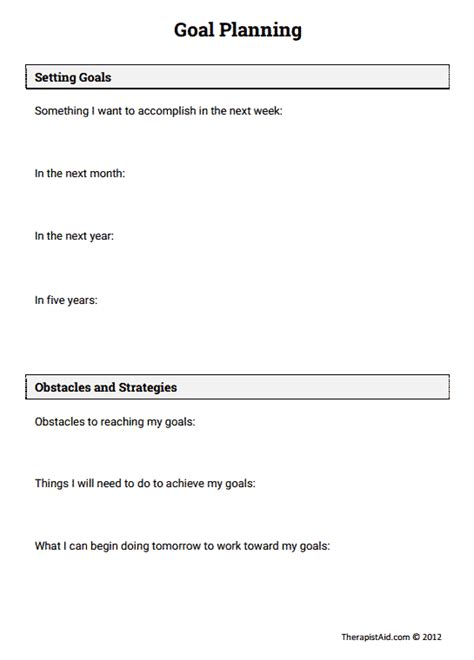 Motivational Interviewing Worksheets by Goal Planning Preview Counseling Goal
