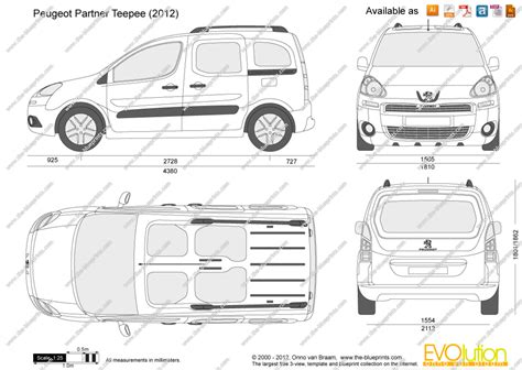 peugeot partner dimensions the blueprints com vector drawing peugeot partner teepee
