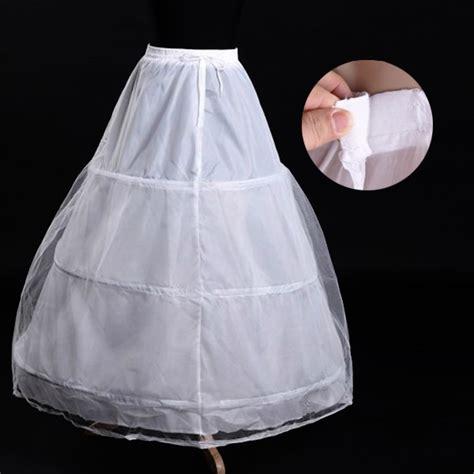 a line 3hoop bridal wedding gown dress underskirt