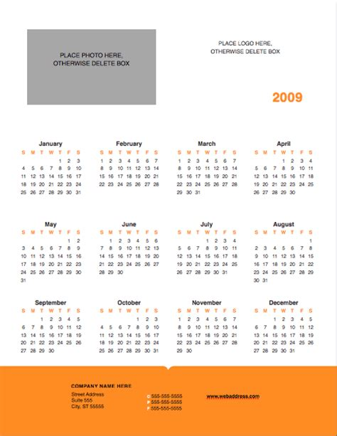 modern solid yearly calendar template free iwork templates