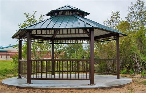 What Is A Gazebo Gazebos Commercial Steel Shelters Apc Shelters