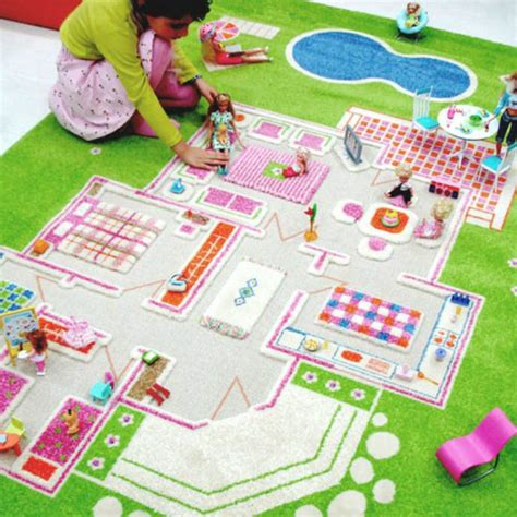 ivi play rugs ivi 3d play rug playhouse green large 100x201
