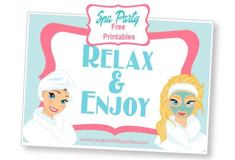 printable spa party decorations related keywords suggestions for spa printables