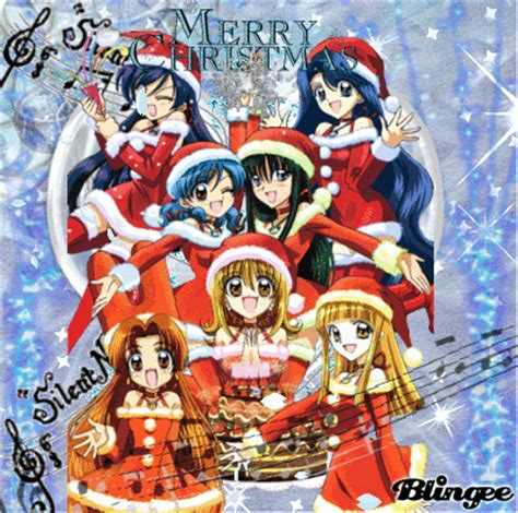 merry christmas mermaid melody picture  blingeecom