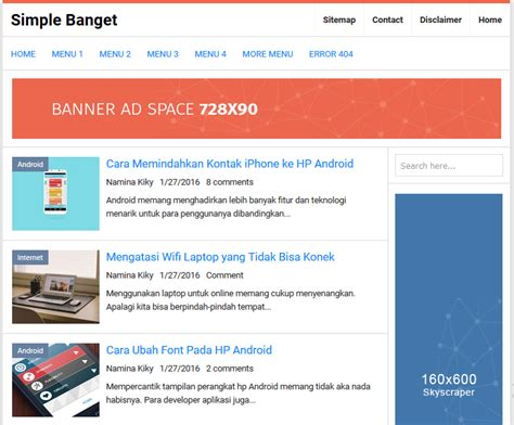 free xml themes download blogger simple banget high ctr responsive blogger template