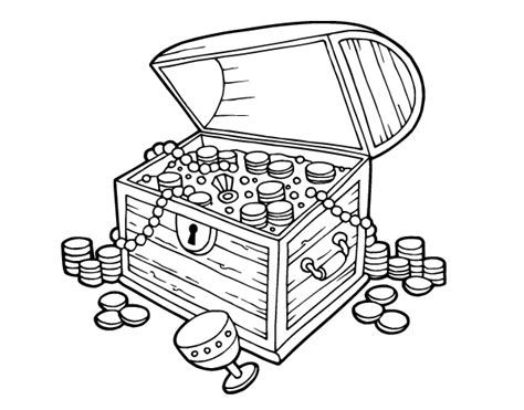 treasure chest free colouring pages