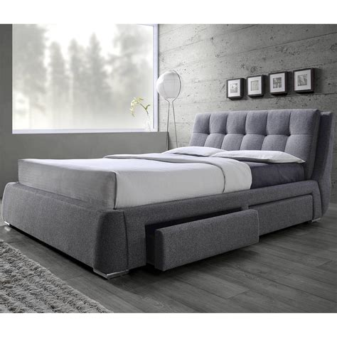 tufted design upholstered storage bed  pillow top