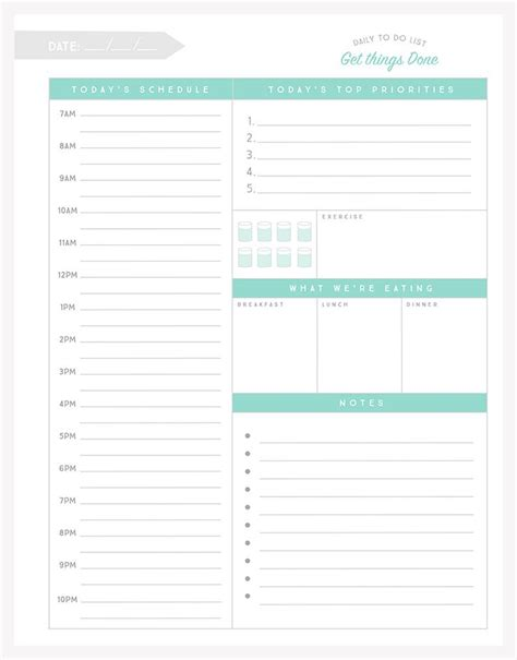printable daily planner for school free organizational printables to streamline your to do