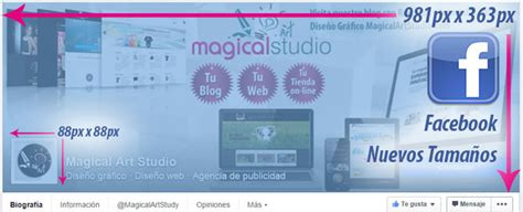 cabecera facebook medidas medida avatar y cabecera p 225 gina facebook magical art studio