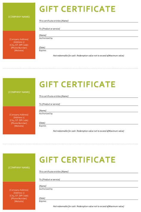 gift certificate templates word gift certificate template sle gift certificate