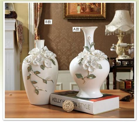 big vases home decor ceramic white modern flowers vase