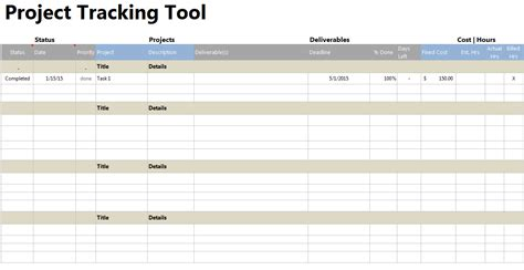Excel Task Tracker Template by Project Tracker Tool
