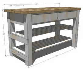 Rustic Kitchen Island Plans White Build Michaela S Kitchen Island Diy Projects