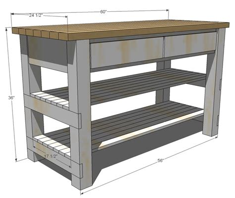 Kitchen Island Cart Plans | ana white build michaela s kitchen island diy projects