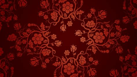 hd graphic pattern floral texture patterns red background vector art walldevil