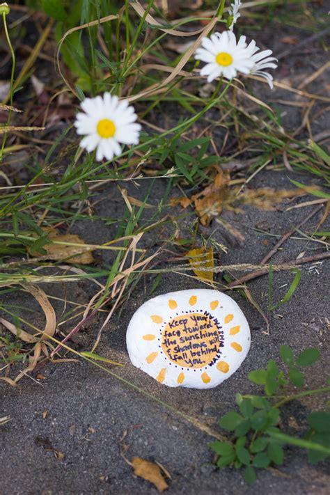 Backyard Birthday Ideas kindness rocks project