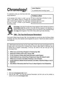 Chronological Order Worksheets 4th Grade by Chronology Skills Resources Tes