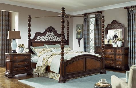poster bedroom sets with canopy legacy classic royal tradition poster canopy bedroom set