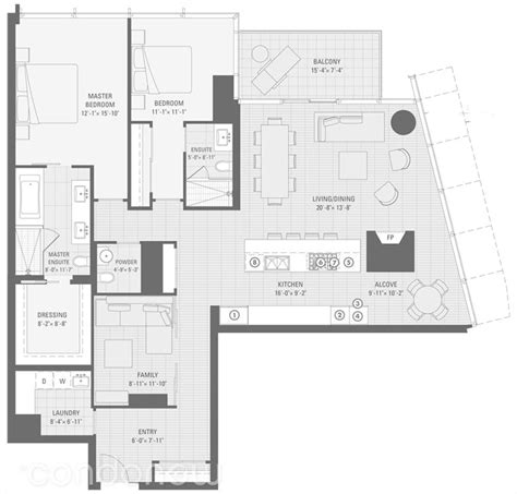 university floor plan shangri la 180 university avenue condo floor plans