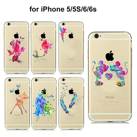 Casecassingcasing For Iphone 6 6s Plus Soft Minnie aliexpress buy 8 styles colorful mickey minnie mouse catcher feather shell cover for
