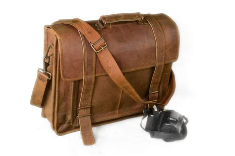 Leather Messenger Bag Handmade - brown 16 genuine leather briefcase leather messenger bag