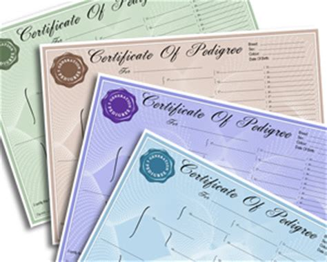 pedigree forms certificates create a free pedigree