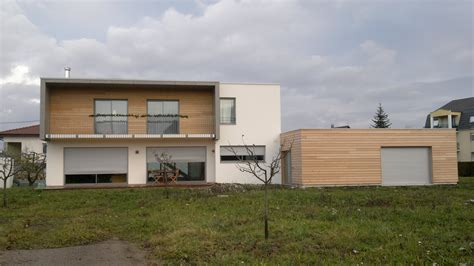 Garage Ossature Bois Toit Plat 2546 by Maison 224 Ossature Bois 224 Toit Plat Abt Construction Bois