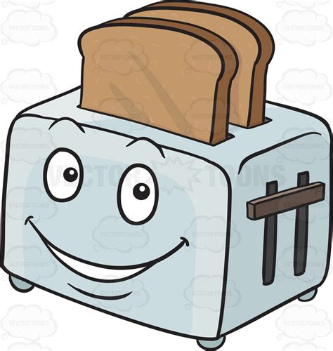 toast emoji clipart toaster popping out breads emoji