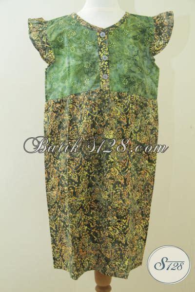 Dress Backless Anak Batik Hijau baju batik anak warna hijau batik anak harga murah a031cs