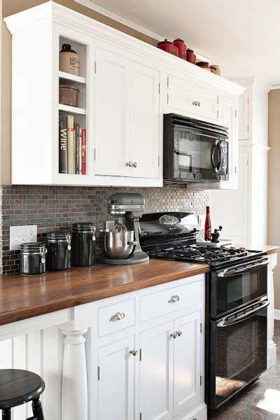 Grey Kitchen Cabinets With Black Appliances Black Appliances And White Or Gray Cabinets How To Make It Work Black Appliances White